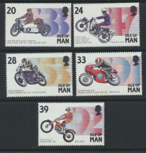 GB SG 567 - 571 SC# 562 - 6  MUH  - Manx Motor Cycling Events