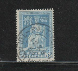IRELAND #143    1950  3p  STAUE OF ST. PETER  F-VF  USED