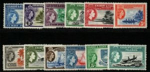 GILBERT & ELLICE IS. SG64/75 1956 DEFINITIVE SET MNH