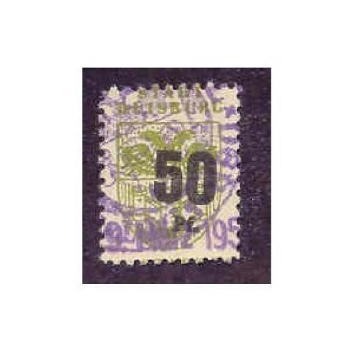 Germany - Duisberg 50 pfg Municipal Revenue Stamp (#)