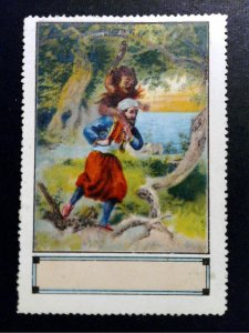 German Poster Stamp - 1001 Nights - Sinbads Fifth Journey