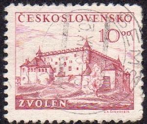 Czechoslovakia 393 - Used - 10k Zvolen Castle (1949)