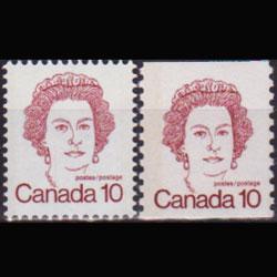 CANADA 1976 - Scott# 593A-603 Queen 10c NH