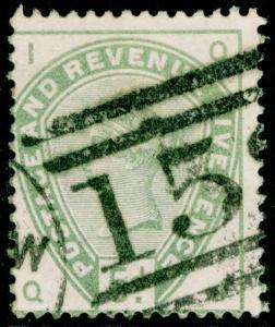 SG193, 5d dull green, USED. Cat £200. QI