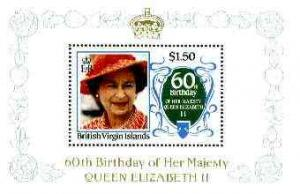British Virgin Islands 1986 Queen\'s 60th Birthday $1.50 ...