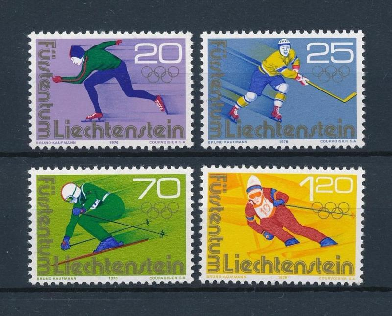 [56405] Liechtenstein 1975 Olympic Winter Games Skating Icehockey Skiing MNH