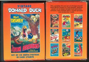 GUYANA - Scott 2780A  set of 50 poster stamps - DONALD DUCK: GOLF devils PENGUIN
