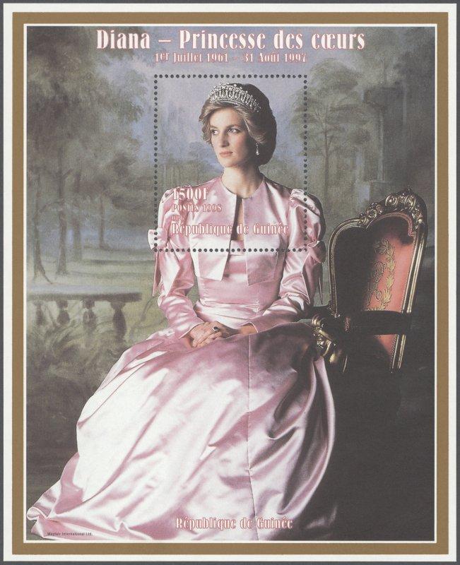 Rep of De Guinee Princess Diana souvenir stamp sheets MNH