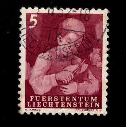 LIECHTENSTEIN Scott 247 Used 1951 stamp