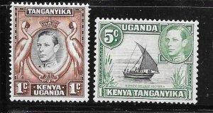 Kenya,Uganda,Tanganyika #66-67    (MH)  CV $3.50