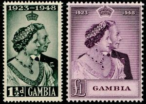 GAMBIA SG164-165, COMPLETE SET, NH MINT. Cat £21. RSW.