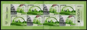 HERRICKSTAMP NEW ISSUES CYPRUS Sc.# 1260a EUROPA 2016 Think Green Booklet