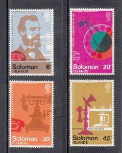 Solomon Islands Scott #337-340 MNH