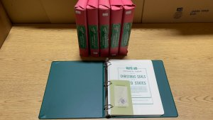 Whiteace 1907-1994 Christmas Seal Stamp Album 3-Ring Binder & Supplement Pages