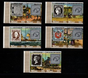 Niue Sc 281-85 1980 Hill ZEAPEX Exhibition stamp set mint NH