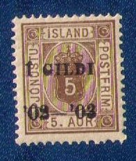 Iceland Sc #O22 MLH Gildi Overprint In Black F-VF