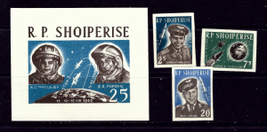 Albania 654-56 MNH 1963 Space Flight