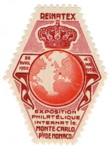 (I.B) Monaco Cinderella : Philatelic Exhibition (Monte Carlo 1952)