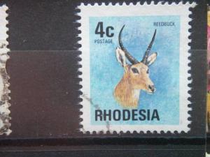RHODESIA, 1974, used 4c, Scott 331, Definitive, Reedbuck