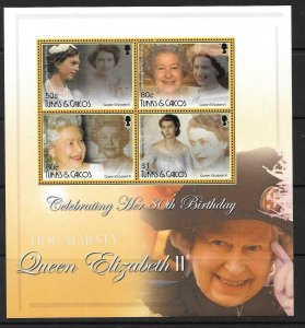 TURKS & CAICOS IS. SGMS1842 2006 80th BIRTHDAY OF QUEEN ELIZABETH MNH