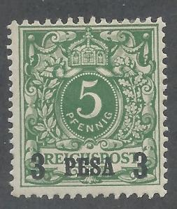 GERMAN EAST AFRICA 1893 3 PESA OVERPRINTED 5PF