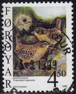 Faroe Islands - 1999 - Scott #351 - used - Bird Winter Wren
