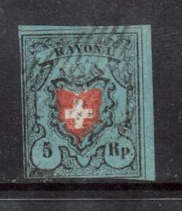 Switzerland #7 Used **With Certificate**