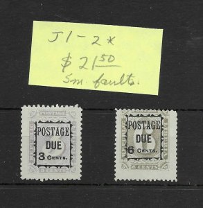 Liberia #J1-J2 MH Small Faults - Stamp - CAT VALUE $21.50