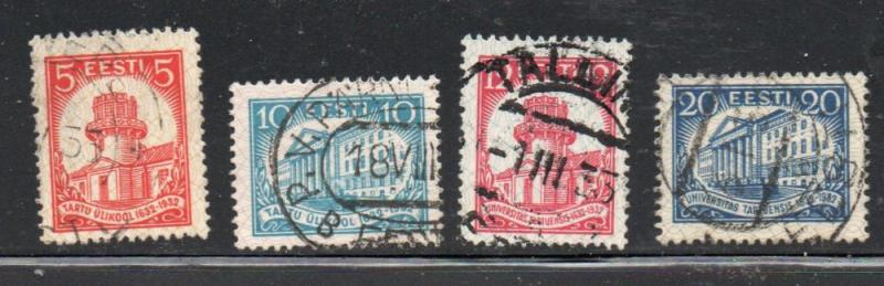 Estonia Sc 108-11 1932 300th Anniversary University of Tartu  stamp set used