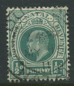 STAMP STATION PERTH Natal #101 Used KEVII 1904 Wmk 3 Multi Crown and CA CV$0.25.