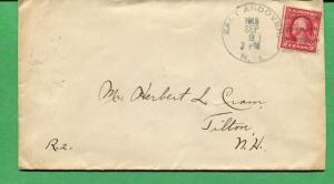 New Hampshire Cover - East Andover 1913 W/ 4 Bar Cancel  S8506