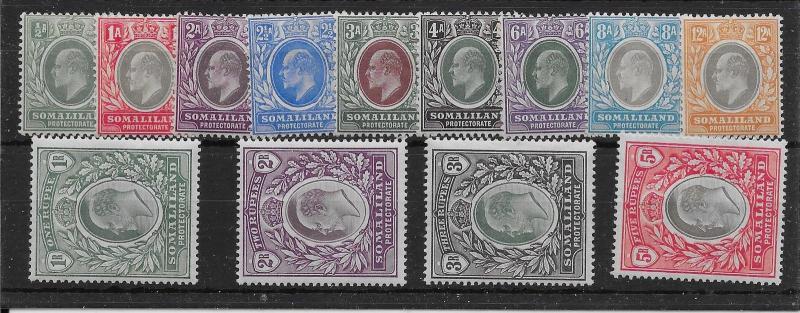 SOMALILAND SG32/44 1904 DEFINITIVE SET MTD MINT