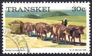 Transkei # 18 used ~ 30¢ Sledge Transportation