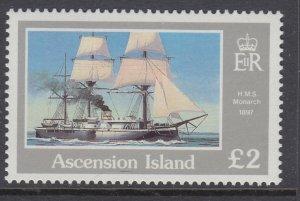 Ascension 415 Sailing Ship MNH VF