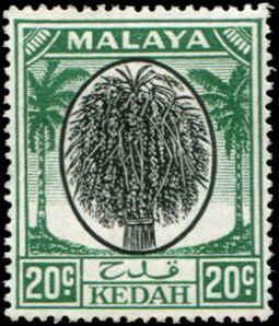 Malaya - Kedah SC# 72 SG# 84 Sheaf of Rice 20c MH