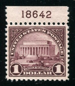 #571 Lincoln Memorial Mint XFOGNH W Plate #⭐⭐⭐⭐⭐