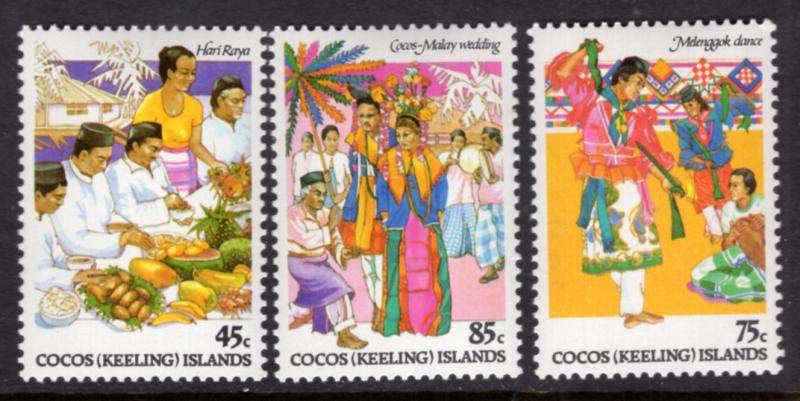 Cocos Keeling Islands 108-110 MNH VF