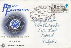 GBP105) GB 1969, Police Federation Golden Jubilee 1919-1969, Blackpool, Post