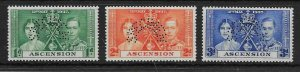 ASCENSION SG35s/7s 1939 CORONATION SET PERF SPECIMEN MTD MINT