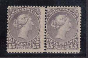 Canada #29 Mint Lightly Hinged Pair