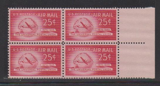 UNITED STATES -AIR MAIL STAMPS #C-44 BLOCK MNH.  LOT #US630