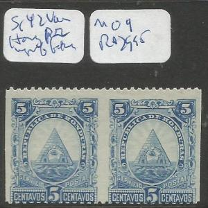 Honduras SC 42 Horizontal Pair Imperf Between MOG (7cqq)