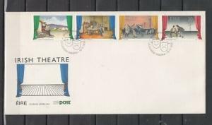 Ireland, Scott cat. 814-817. Irish Theater issue. Long First day cover. ^