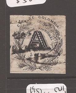 Colombia 1865 Registered SC F2 VFU (3ata)