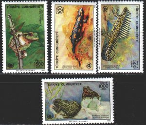 Turkey. 1990. 2889-92. Frogs, amphibians. MNH.