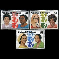 TRINIDAD & TOBACO 1980 - Scott# 337-9 Women Set of 3 NH