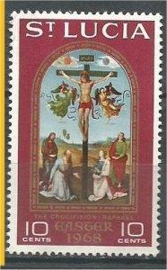 ST. LUCIA, 1968, MH 10c, Easter, Scott 231
