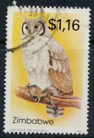 Zimbabwe SG 853  SC# 685  Used   Owls   see detail and scan