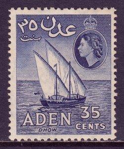 Aden - Scott #52a - P12X13½ - MNH - Light toning - SCV $6.50