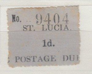 St Lucia KGV 1d Postage Due SGD1 MH J8517